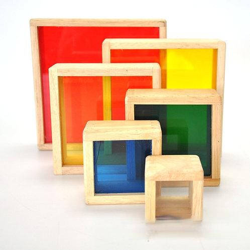 Kidpik Acrylic 6pcs Rainbow Stacking Pyramid