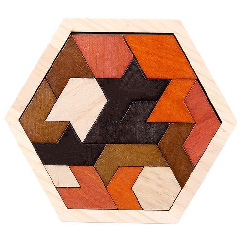 Wooden Geometric Jigsaw Polygon Puzzle - Type 4
