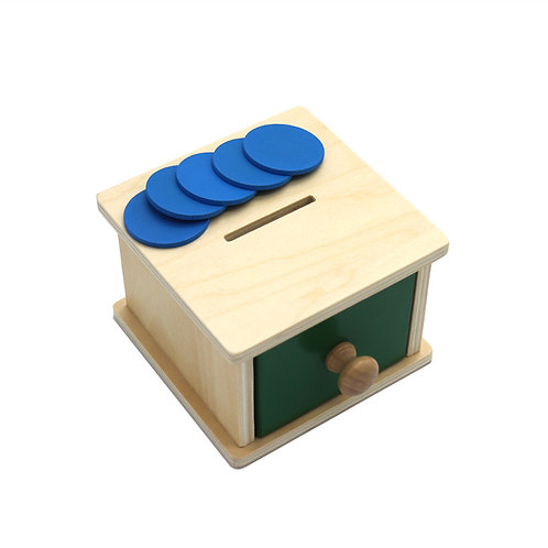 Wooden Coin Deposit Wafer Drawer Box