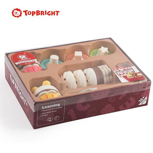 TopBright Wooden 123 Fruit Cake Box
