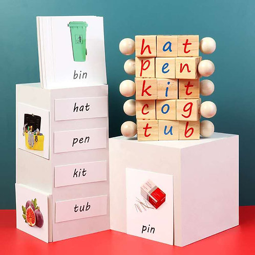 Montessori Phonetic Reading Blocks