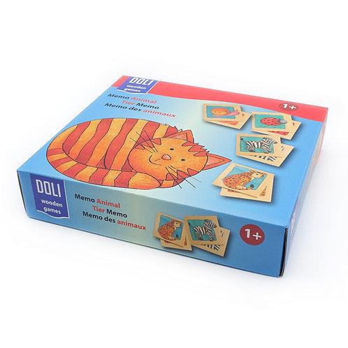 Doli 24-Paired Memo Animal Domino Game