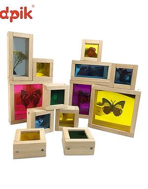 Kidpik Acrylic 8pcs Sensory Treasure Blocks