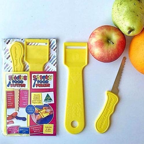 Twin Pack – Kiddies Food Kutter & Safety Food Peeler