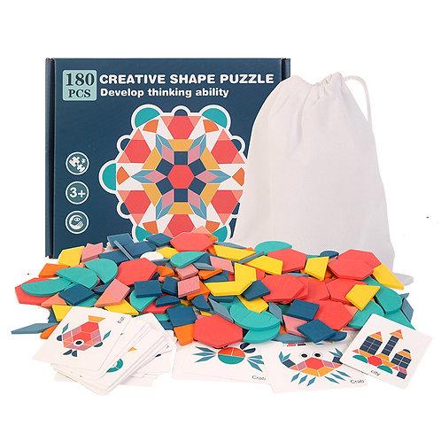 180pcs Creative Shape Puzzle