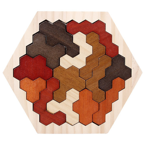 Wooden Geometric Jigsaw Polygon Puzzle - Type 3