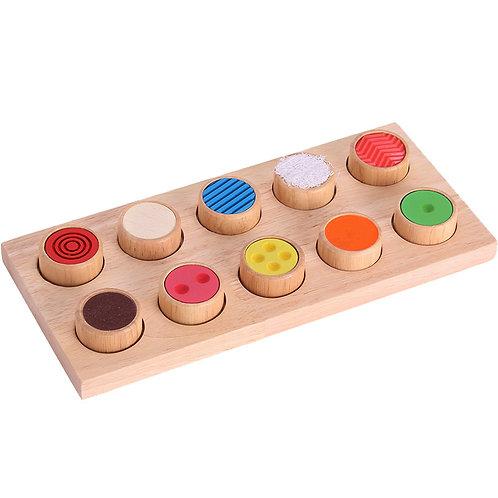 Wooden Sensory Memory Board
