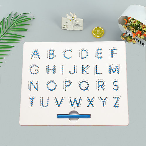 Magnetic Upper Case Alphabet Letter Tracing Board