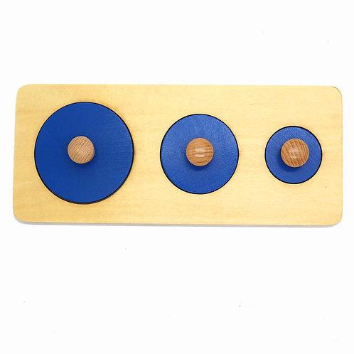 Wooden Tri-Circular Geometry Panel