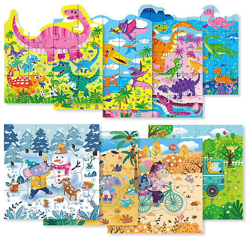 4-in-1 Progressive Learning Puzzle Set