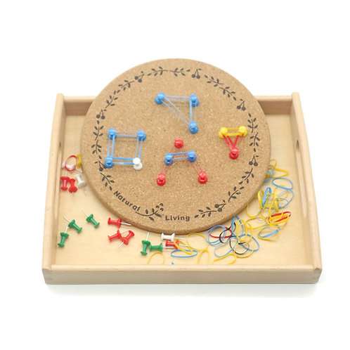 Montessori Teaching Aid Rubber and Push Pin Activity Board