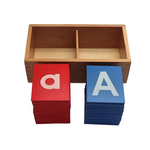 Montessori Preschool Sandpaper Alphabet Letter Board