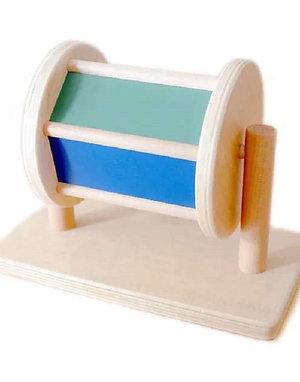 Montessori Wooden Colourful Spinning Drum