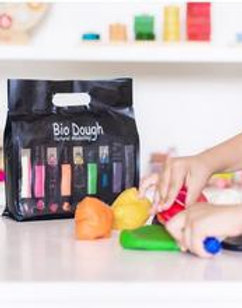 Bio Dough Rainbow in a Bag | 9 fun colours and scents