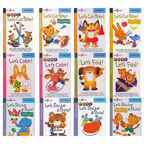Kumon Original Origami Exercise Scrapbook - Set of 12