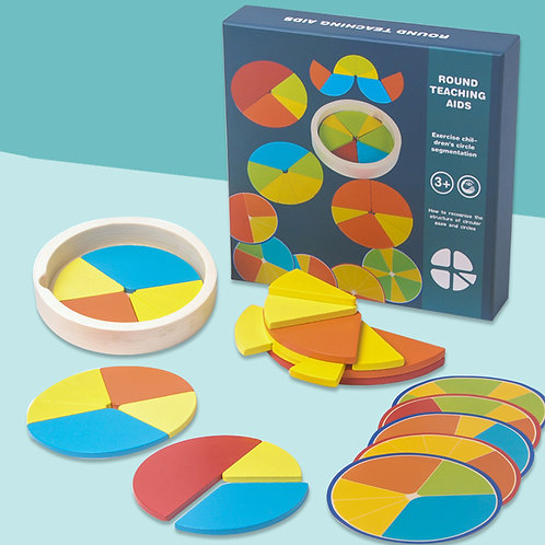 Wooden Early Educational Cognitive Circular Teaching Aid