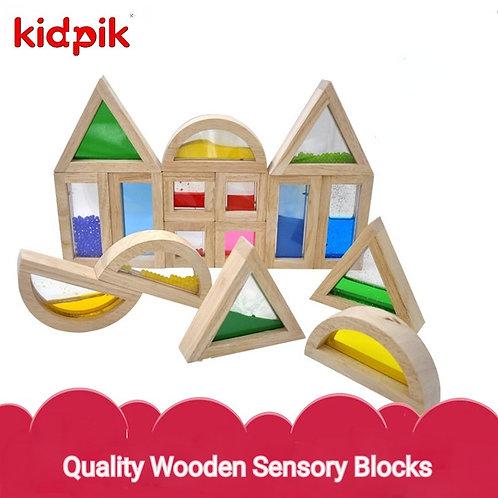 Kidpik Acrylic 16pcs Sensory Building Block
