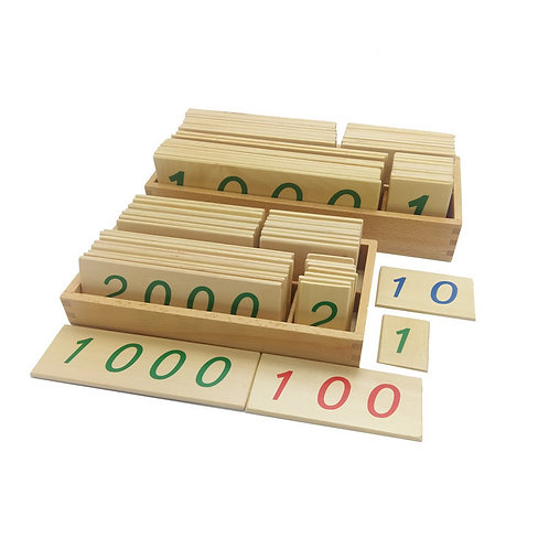 Montessori 1-9000 Wooden Number Card Games