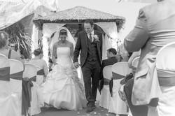 bride and groom in spain