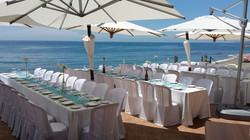 wedding banquet by the sea