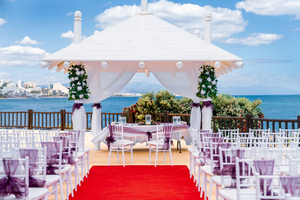 wedding ceremony decoration in Spain