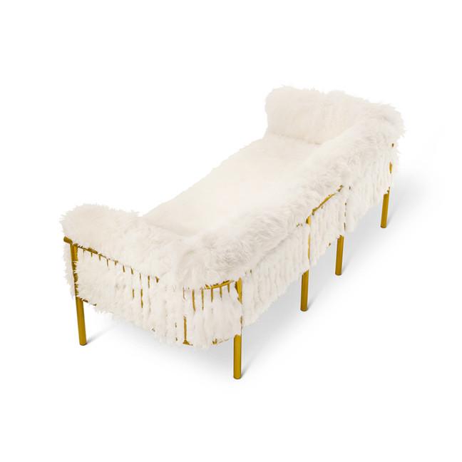 Coronum Three Seater Sofa for Scarlet Splendour by Artefatto Design Studio