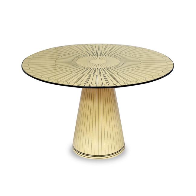 The Metropolis Table for Scarlet Splendour by Matteo Cibic