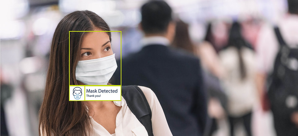 Mask and social distance detection
