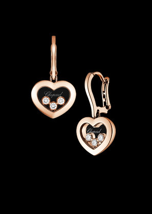 CHOPARD HAPPY DIAMONDS ICONS HEART DANGLE EARRINGS