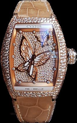 CVSTOS RE BELL PAPILLION DIAMOND SNOW SETTING WHITE BUTTERFLY DIAMOND DIAL