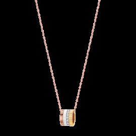 BOUCHERON QUATRE WHITE EDITION PINK, YELLOW, AND WHITE GOLD CERAMIC DIAMOND REND