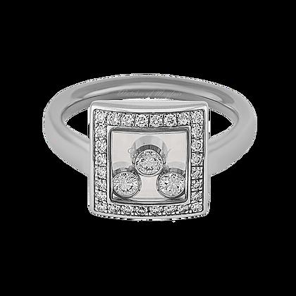 CHOPARD HAPPT CURVES WHITE GOLD DIAMOND RING