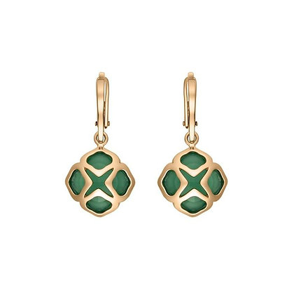 CHOPARD IMPERIALE COCKTAIL ROSE GOLD CHALCEDONY EARRINGS