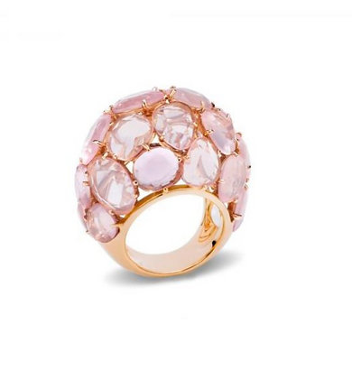 POMELLATO CAPRI ROSE GOLD ROSE QUARTZ RING