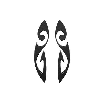 AKILLIS TATTOO BLACK DLC TITANIUM EARRINGS
