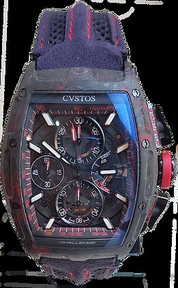 CVSTOS CHALLENGE CHRONO II BLACK-RED FORGED CARBON HONOLULU