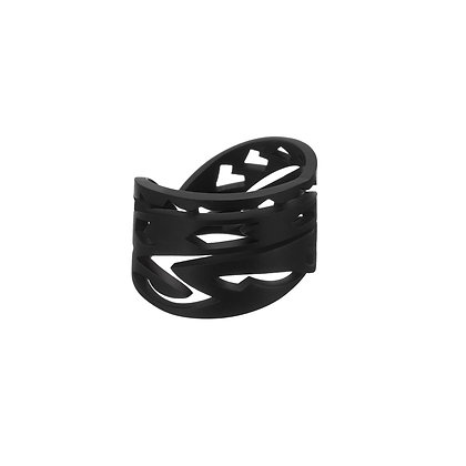 AKILLIS TATTOO BLACK DLC TITANIUM RING