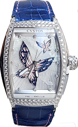 CVSTOS RE BELL PAPILLION DIAMOND 1 ROW BLUE BUTTERFLY