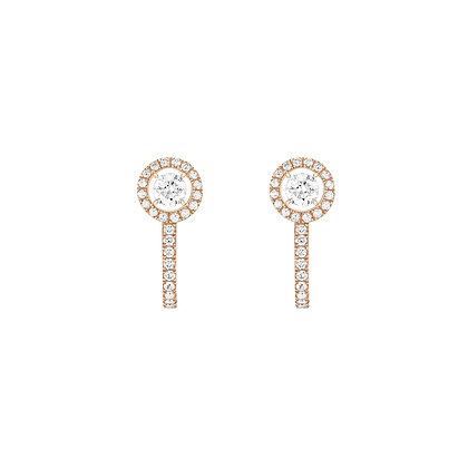 MESSIKA JOY HOOP EARRINGS ROUND DIAMONDS