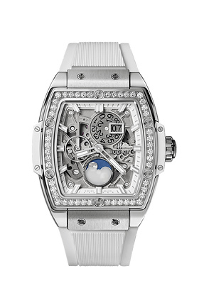 SPIRIT OF BIG BANG MOONPHASE TITANIUM WHITE DIAMONDS