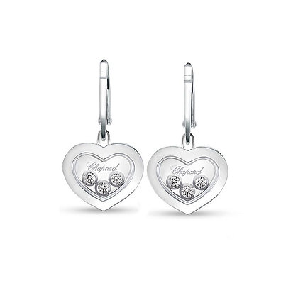 CHOPARD HAPPY DIAMONDS ICONS EARRINGS WHITE GOLD