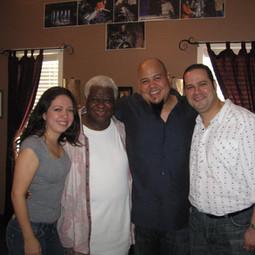 With Bassist Abraham Laboriel and Drummer Abraham Laboriel Jr. (Miami March 2008)