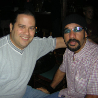With colleague bassist Ricardo Martínez (August 2004)