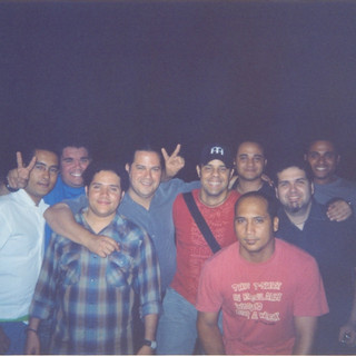 With Miguel Pumarol (Papolo), Pavel Núñez, Guy Frómeta, David Vásquez, Rafa Payán and Peter Nova (Santo Domingo April 2004)
