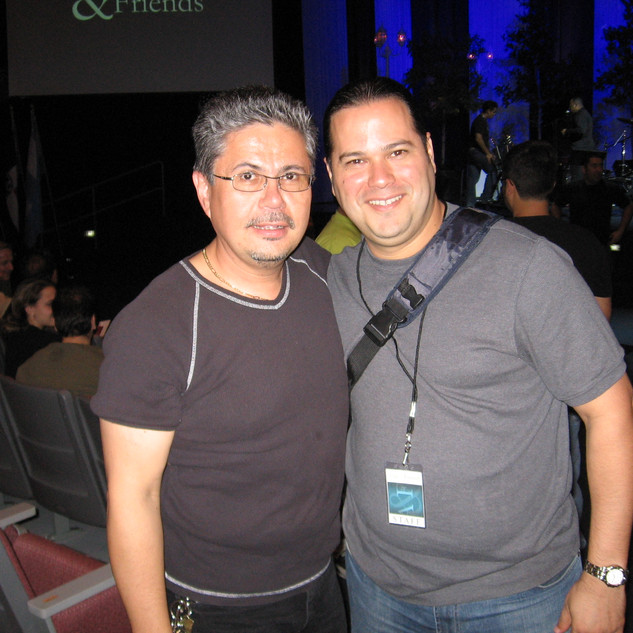 With Bassist/Author Manny Patiño (one of my mentors) (Miami December 2005)