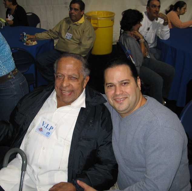 With Latin Music Bass Legend Israel López (Cachao) (Miami December 2005)