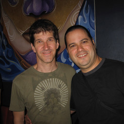 With Drummer/Composer Chad Wackerman after their Allan Holdsworth Trio Show (Miami June 2007)