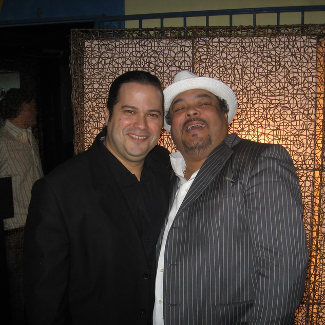 """With Recording Artist/Songwriter Extraordinaire Francisco """"Pancho"""" Céspedes after sharing the stage (Miami February 2007)"""