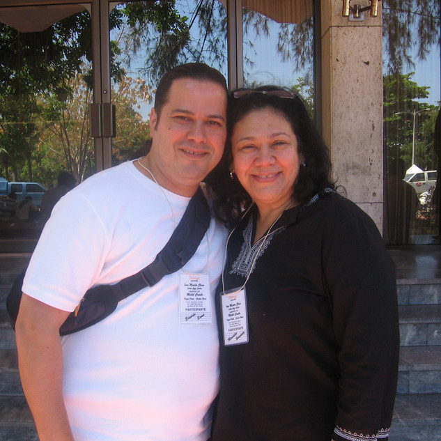 With Recording Artist Extraordinaire Maridalia Hernandez at Michel Camilo Trio Master Class (Santo Domingo April 2006)