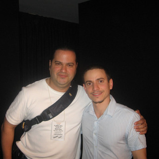 With Grammy-Winner Drummer Dafnis Prieto after their Michel Camilo Trio Master Class (Santo Domingo April 2006)